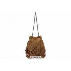 Женская замшевая сумка Naima (TR977) коньячная