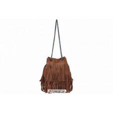 Женская замшевая сумка Naima (TR977) коричневая