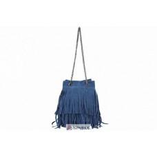 Женская замшевая сумка Naima (TR977) синяя
