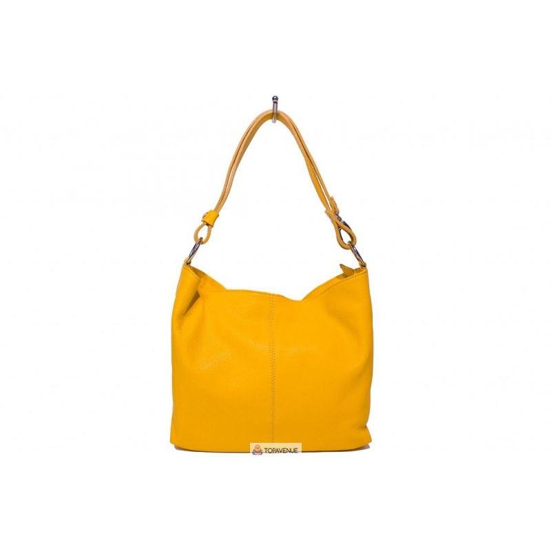ad2f959b3b9b Женская кожаная сумка LORELLA(BS15207) желтая DIVAS из Италии