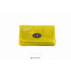 Женская кожаная сумка Kitty (P2310) желтая