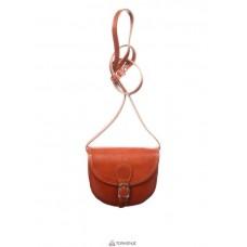 Женская кожаная сумка Anja (TR957) коньячная