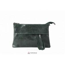 Женский кожаный клатч Lelia (TR982) темно-зеленый