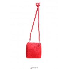 Женская кожаная сумка GRETA ( P2279) красная