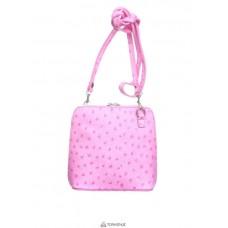 Женская кожаная сумка GRETA ( P2279) розовая