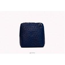 Женская кожаная сумка GRETA ( P2279) темно-синяя