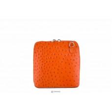 Женская кожаная сумка GRETA ( P2279) оранжевая