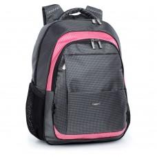 Ранец Dolly 527 темно-серый с розовым