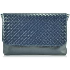Женский кожаный клатч 2053 синий