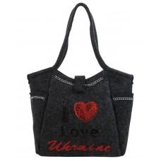 Женская сумка B1 T20127 Украина сукно темно-серая