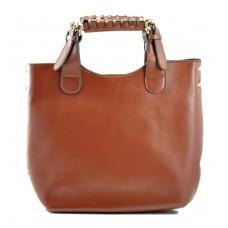 Женская сумка Zara Shopper Mild коричневая