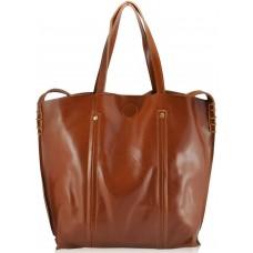 Женская кожаная сумка 8233 рыжая