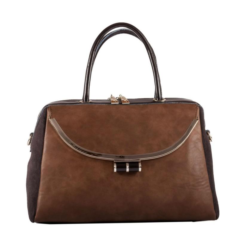 43ddb489942f Женская сумка B1 MB007 кожаная коричневая купить в Киеве недорого ...