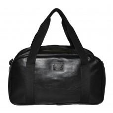 Спортивная сумка трапециевидная гладкая черная