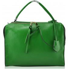 Женская кожаная сумка 0196 зеленая