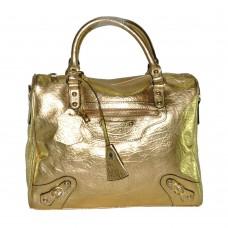 Кожаная сумка 8818 золотистая