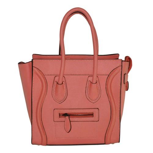 Женская сумка Celine Boston коралловая