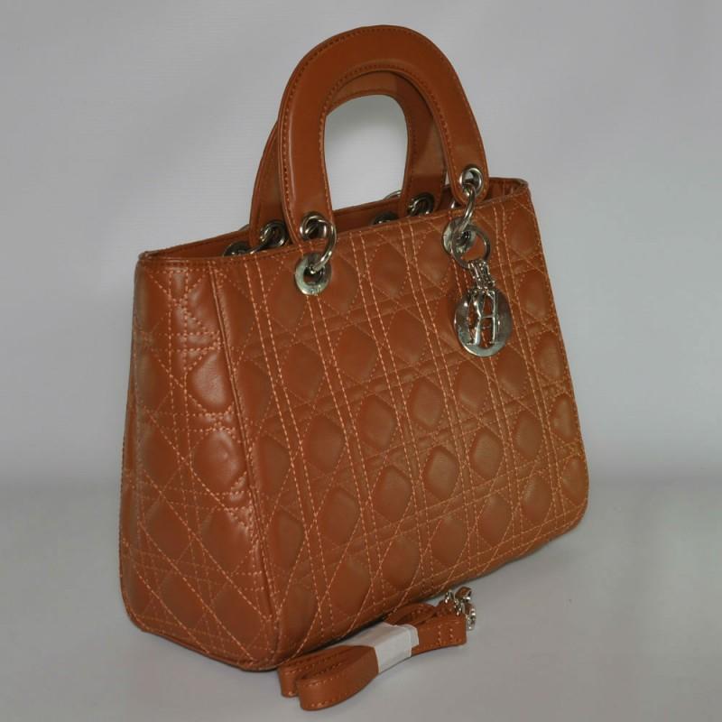953ce26adbf1 Женская сумка Lady Dior Cannage Bag рыжая купить в Киеве недорого ...