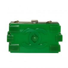 Пластиковый клатч Lego в виде лего зеленый
