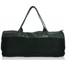 Спортивна шкіряна сумка ss-96 чорна
