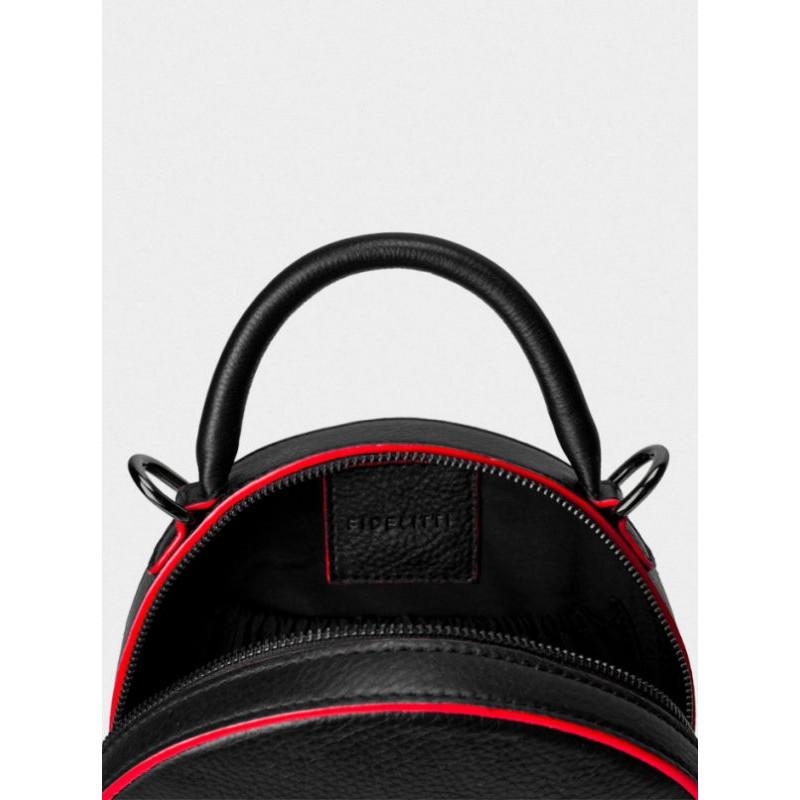 565cf8081ea8 ... Женская кожаная сумка Tondo mini 043/0/Lu/R черная с красным