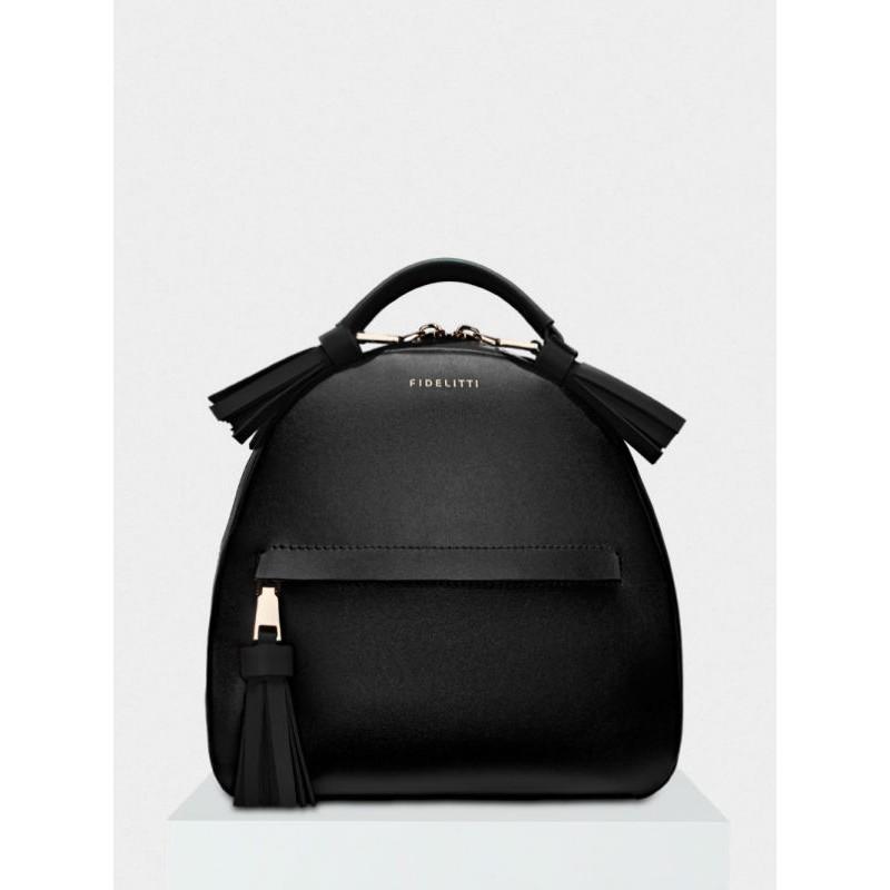 66a2906008e4 Женский кожаный рюкзак Zaino 027/0/T черный — купить в интернет ...