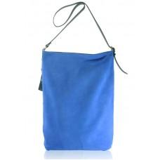 Замшевая сумка Shopper синяя
