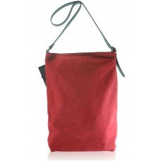 Замшевая сумка Shopper красная