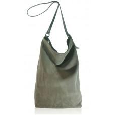 Замшевая сумка Shopper тауп