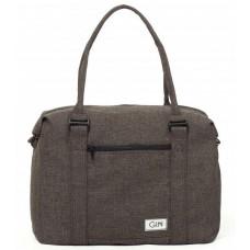 Дорожная сумка GIN M cotton коричневая