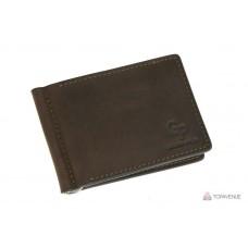 Зажим для купюр Grande Pelle 125120 коричневый