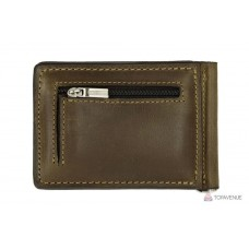 Зажим для купюр Grande Pelle ONDA 125620 шоколад с монетницей