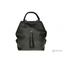 Рюкзак-сумка трансформер женский Grande Pelle 771710 черный