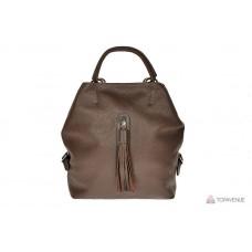 Рюкзак-сумка трансформер женский Grande Pelle 771720 коричневый