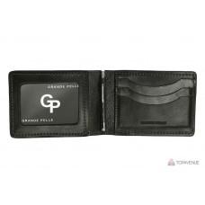 Зажим-портмоне Grande Pelle 107610 чёрный глянцевый