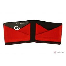 Портмоне Grande Pelle 54111060 черное с красным