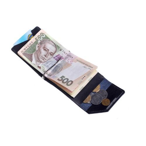 Зажим для денег Grande Pelle Soldi 120670 глянец синий