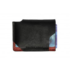 Кард-кейс Grande Pelle CardCase piccolo 30461060 глянец черный с красным