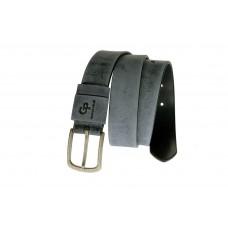 Кожаный ремень Grande Pelle Classico Antico 436612304 серый мрамор