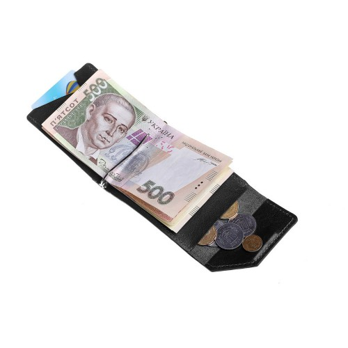 Зажим для денег Grande Pelle Soldi 120610 глянец черный