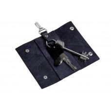 Ключница на кнопках Grande Pelle 405670 глянец синяя