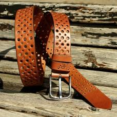 Кожаный ремень Grande Pelle Classico 434012308 коньяк
