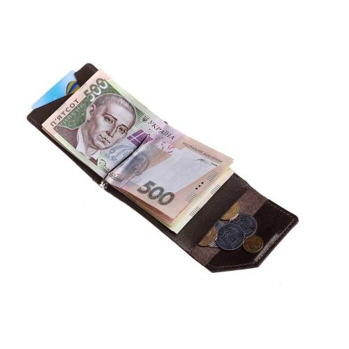 Зажим для денег Grande Pelle Soldi 120620 глянец шоколад