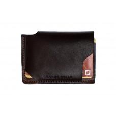 Кард-кейс Grande Pelle CardCase piccolo 30462023 глянец коричневый и терракот