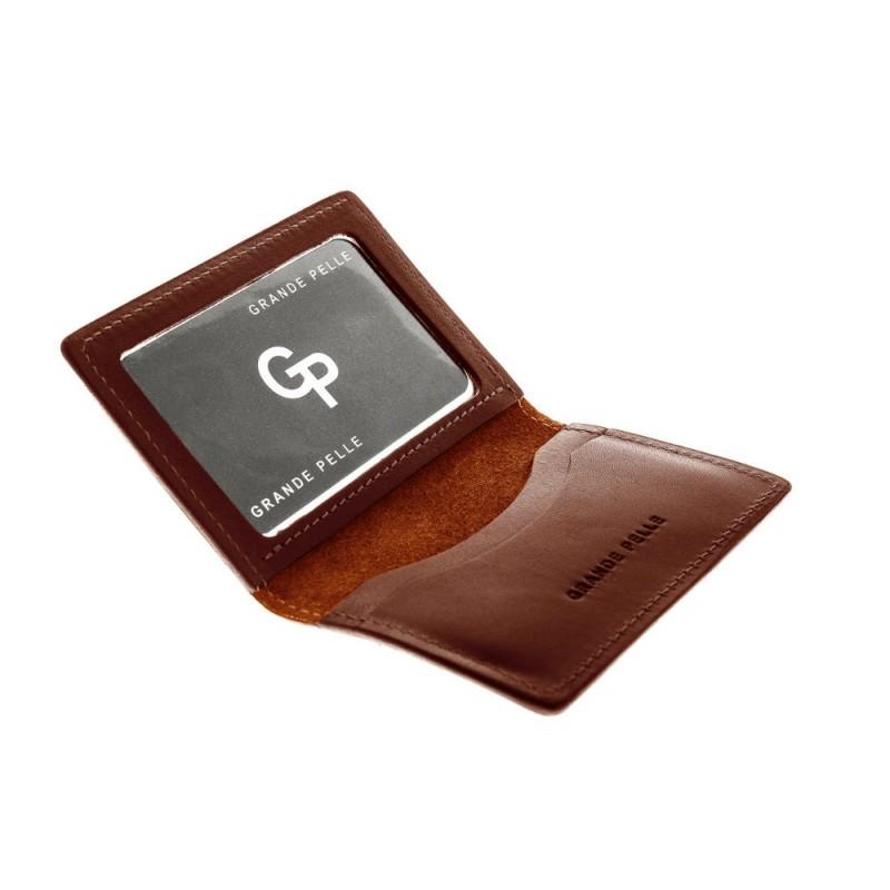 daf9c057ffd1 Обложка на права,тех паспорт, удостоверение Grande Pelle 211623 коричневая