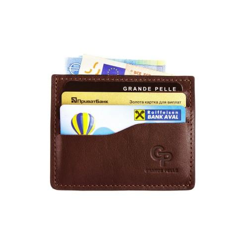 Кард-кейс Grande Pelle CardCase 305623 коньяк