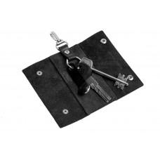 Ключница на кнопках Grande Pelle 405610 глянец черная