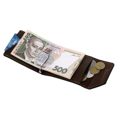 Зажим для денег Grande Pelle Soldi 120120 шоколад