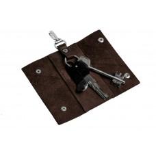 Ключница на кнопках Grande Pelle 405620 глянец шоколад