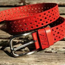 Кожаный ремень Grande Pelle Clasico 460011208 красный